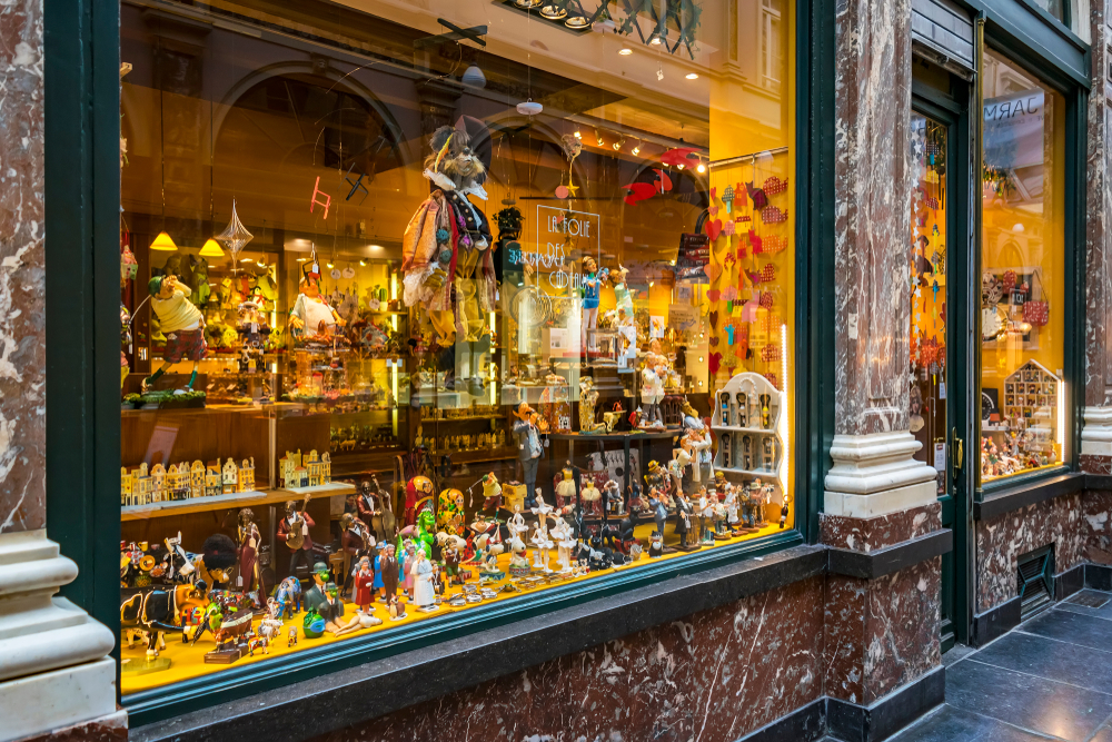 vitrines de jouets pour Noel